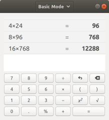 GNOME Calculator screenshot
