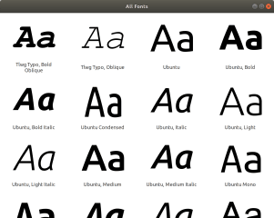 GNOME Font Viewer screenshot
