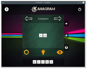 kanagram screenshot