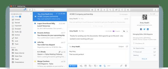Mailspring screenshot