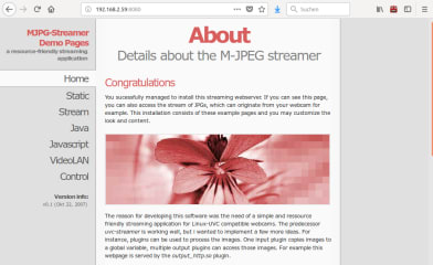 mjpg-streamer screenshot
