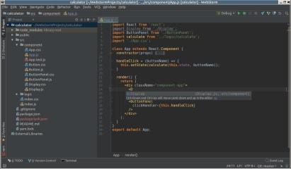 WebStorm screenshot