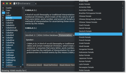 Kdictionary - Dictionary Suite screenshot
