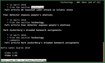Links screenshot
