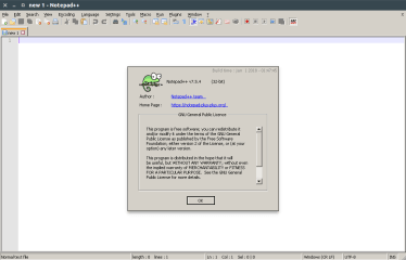 Notepad-Plus-Plus (WINE) screenshot