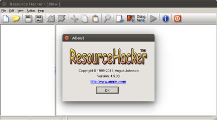 Resourcehacker (WINE) screenshot