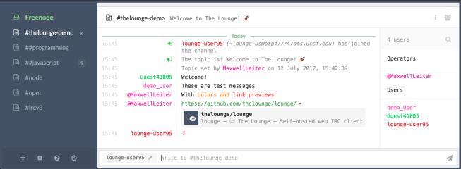 theloungeirc screenshot
