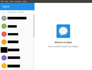 Signal Desktop screenshot