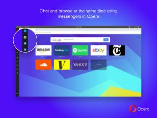 Opera beta screenshot