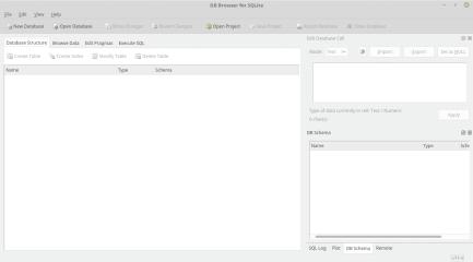 sqlitebrowser screenshot