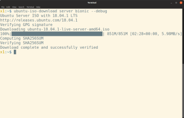 Ubuntu ISO Download screenshot