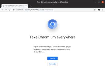 Chromium screenshot