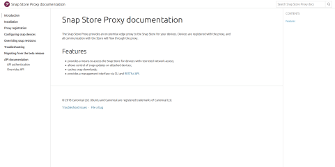 Snap Store Proxy screenshot