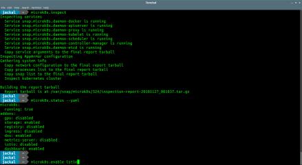 MicroK8s screenshot