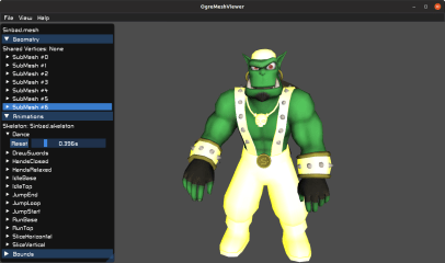 Ogre Mesh Viewer screenshot