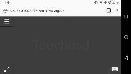 Remote Touchpad screenshot