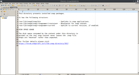 PSPad (WINE) screenshot