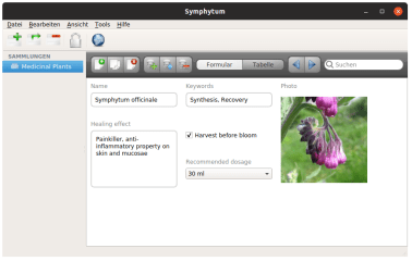 Symphytum screenshot