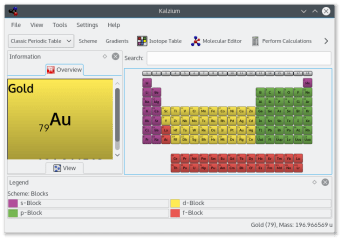 kalzium screenshot
