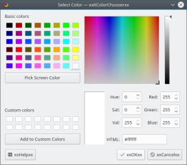 kcolorchooser screenshot