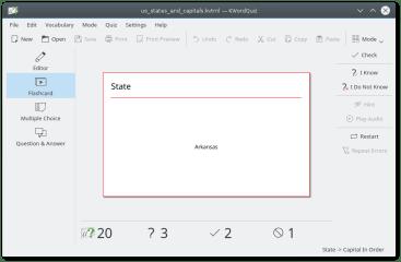 kwordquiz screenshot
