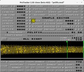 ProTracker (pt2-clone) screenshot