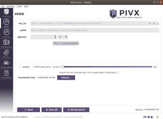 PIVX Core screenshot