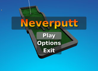 neverputt packaged as a kiosk snap screenshot