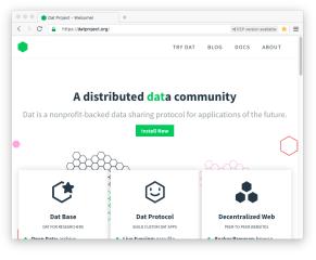 Beaker Browser screenshot