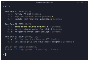 Taskline screenshot
