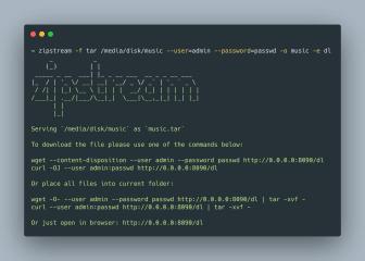 zipstream screenshot