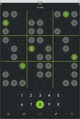 k-sudoku screenshot