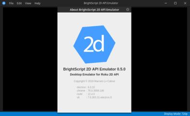 BrightScript 2D API Emulator screenshot