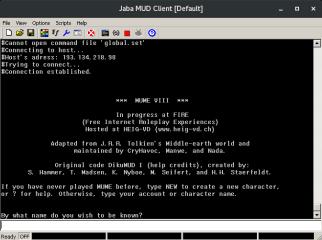 Jaba MUD Client screenshot