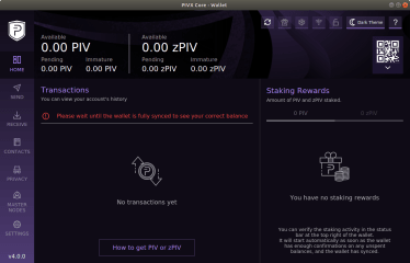 PIVX Core screenshot
