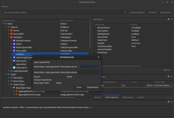 opcua-client screenshot
