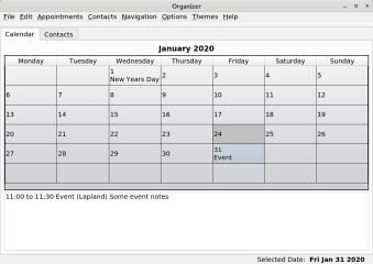 LXQt-Organizer-snap (unofficial) screenshot