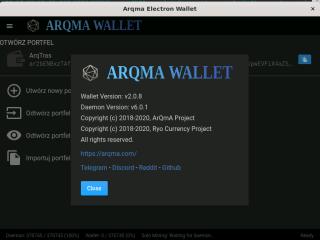 arqma-electron-wallet screenshot
