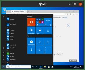 Clouds Windows 10 VM screenshot