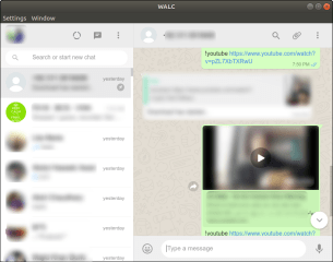 WALC - unofficial WhatsApp Linux Client screenshot
