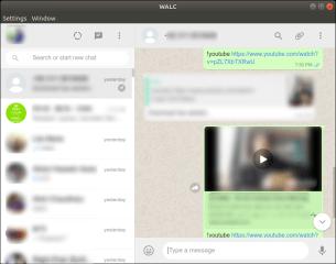 WALC - unofficial WhatsApp Linux Client screenshot