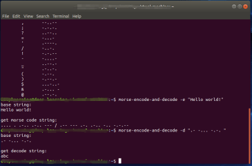 morse-encode-and-decode screenshot