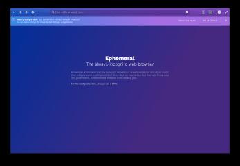 ephemeral screenshot