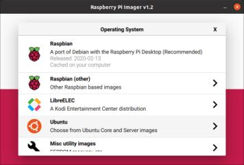 Raspberry Pi Imager screenshot