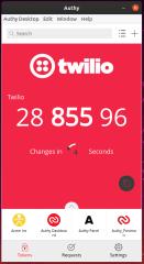 Twilio Authy screenshot