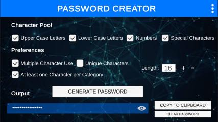 Password Creator - Full Screen screenshot