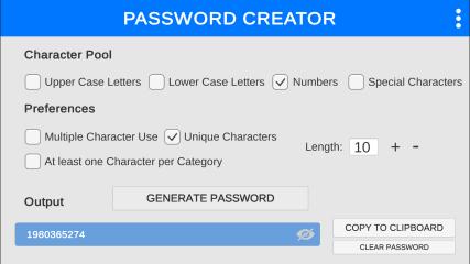 Password Creator screenshot
