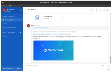mattermost-client-ogra screenshot