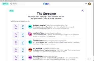 HEY Mail screenshot