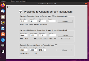 Custom Screen Resolution screenshot